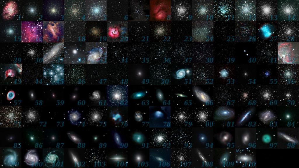 Alle Messier-Objekte, Wikipedia