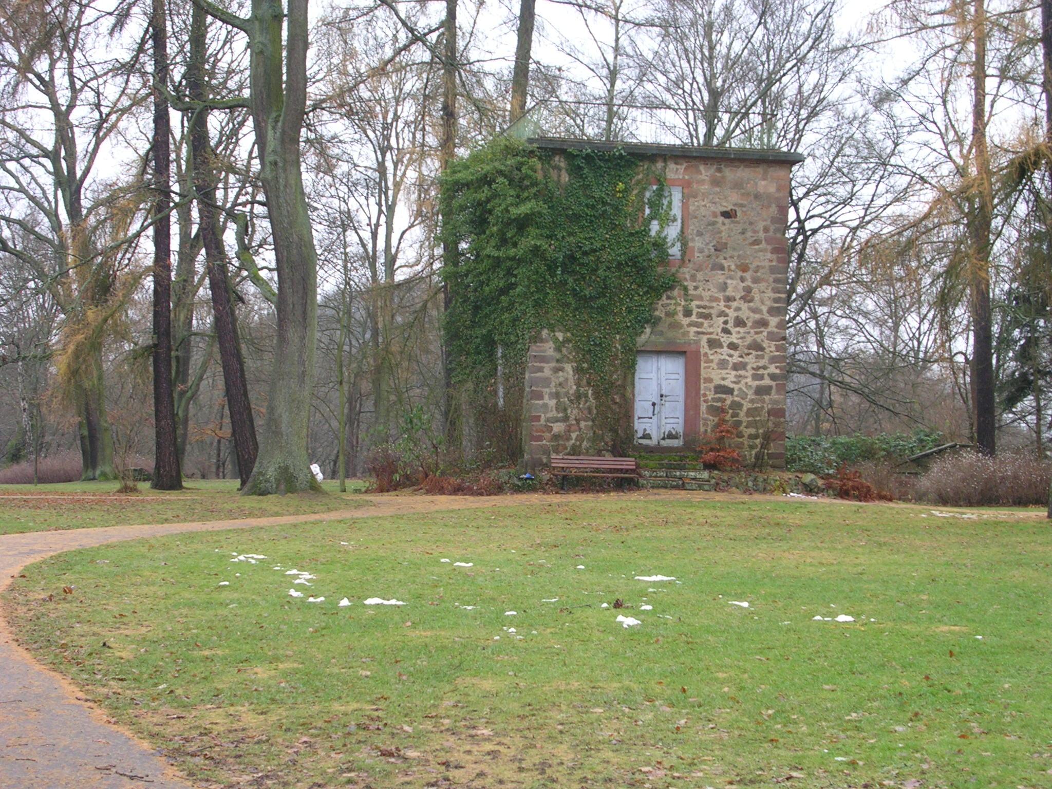 Der meteorologische Turm auf dem Schlossberg in Marburg