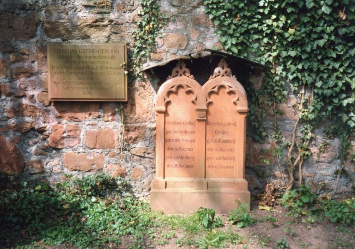 Gerlings Grab auf dem Friedhof am Barfüßertor, Marburg