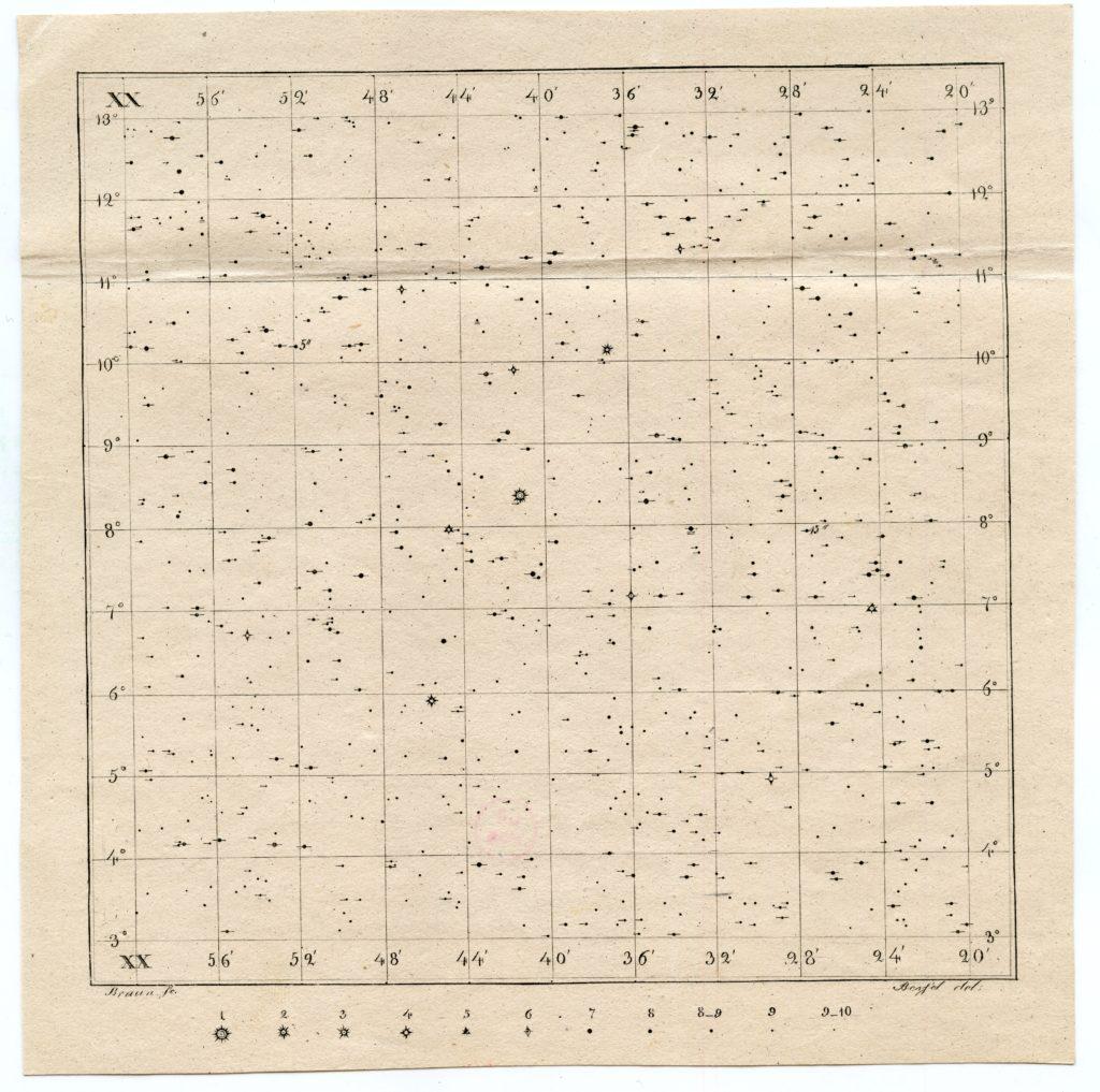Berliner Akademische Sternkarte, Hora 20 Nachlass Chr. L. Gerling, Ms 319:179, Universitätsbibliothek Marburg