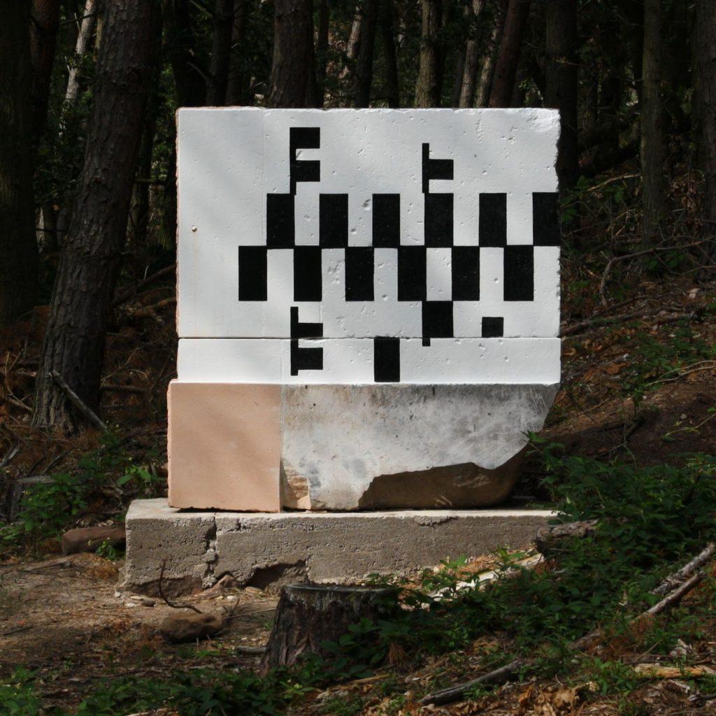 Meridianstein der Gerling Sternwarte (restauriert 2010)