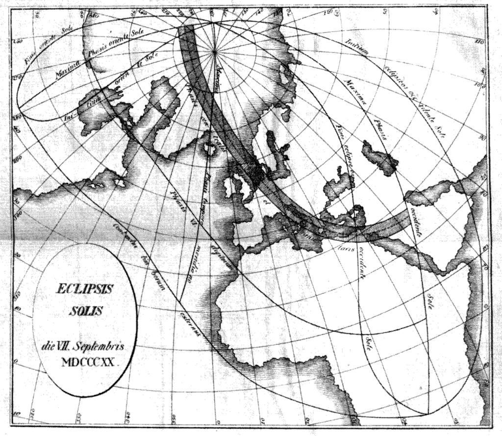 Verlauf der Sonnenfinsternis vom 7. September 1820 in Europa, Diisertation Gerling